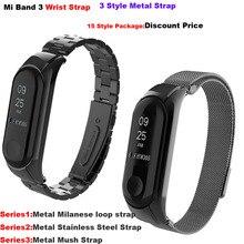 Correa Mi Band Three Bracelet Miband Three Strap Miband Three Wrist Strap Accesorios for Authentic Xiaomi Mi Band Three Steel Bands for xiaomi
