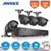 ANNKE 8CH HD 720P TVI CCTV System 1080N DVR 4pcs 1500TVL 720P Outdoor IR Day Night