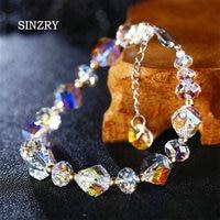 SINZRY JEWELRY Handmade silver crystal Bracelets elegant imported Austria crystal charm fashionable bracelets girl gift