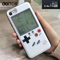DOITOP Classic Tetris Console Handheld Game Players Play Tetris Game Phone Case Gift For Child Kid