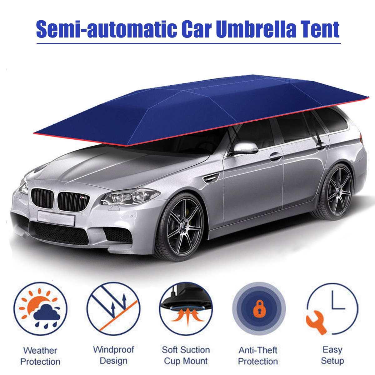 4.2x2.1 M Portable en plein air voiture tente parapluie couverture de toit Kits de Protection UV bâche de voiture parapluie ombre de soleil