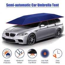 4.2x2.1 متر المحمولة غطاء خارجي للسيارة خيمة مظلة غطاء السقف UV حماية أطقم غطاء سيارة مظلة الشمس الظل