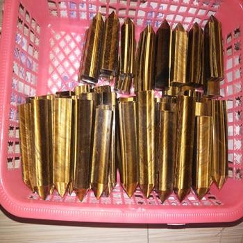 10pcs Natural tiger eye stone wand point healing free shipping