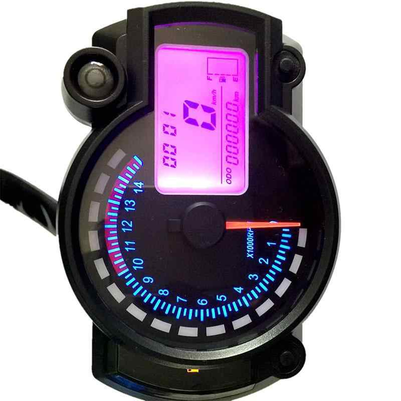LumiParty 7 color display Motorcycle Digital Speedometer LCD Gauge  Speedometer Tachometer Odometer Instrument Adjustable r25