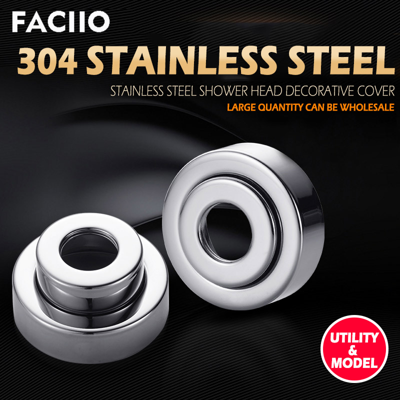 FACIIO New 304 Stainless Steel Water Pipe Decorative Cover Shower Accessories Bathroom Faucet Decorative Covers