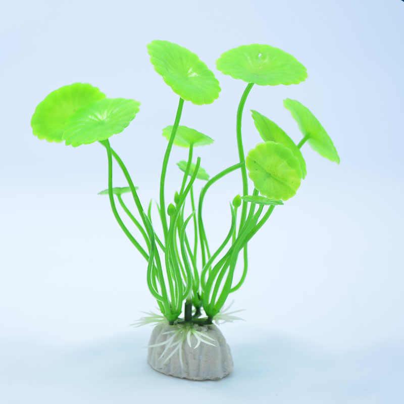 مصغرة الاصطناعي العشب زهرة خزان الأسماك الديكور النباتات محاكاة زينة حوض سمكي المشهد ديكور المائية الساخن