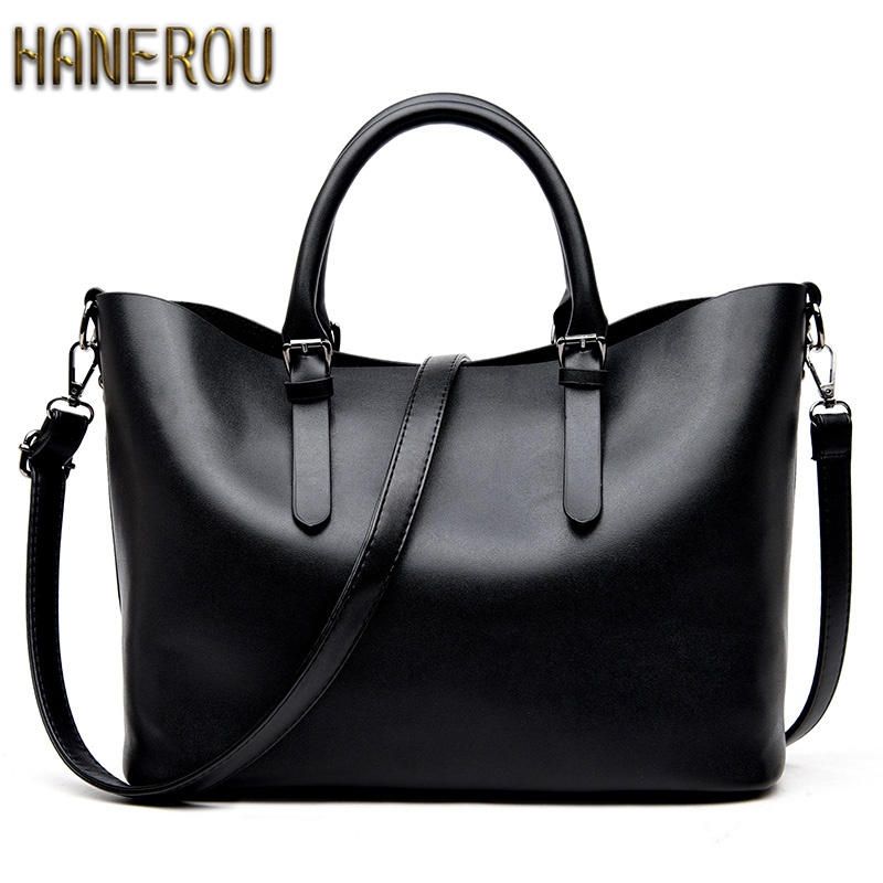 dd4ce9b06d55 Bolso Mujer Negro 2019 Fashion Hobos Women Bag Ladies Brand Leather Handbags  Spring Casual Tote Bag