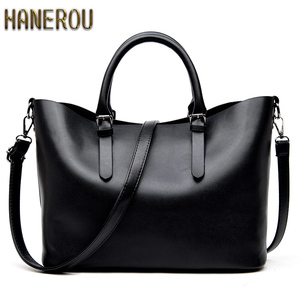 Bolso Mujer Negro 2019 Fashion Hobos Women Bag Ladies Brand Leather Handbags Spring Casual Tote Bag Big Shoulder Bags For Woman