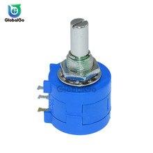 1 шт. потенциометр серии 3590 S 10 K ohm 3590S-2-103L 3590 S 103 прецизионный многоповоротный проволочный переменный резистор с потенциометром