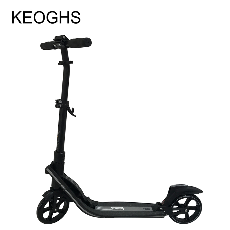 adult children aluminium scooter New type foldable PU2wheels bodybuilding shock absorption urban campus transportation electric kick scooter foldable aluminium alloy electric scooter for adult lcd display 2 wheels led light 120kg load hot sale