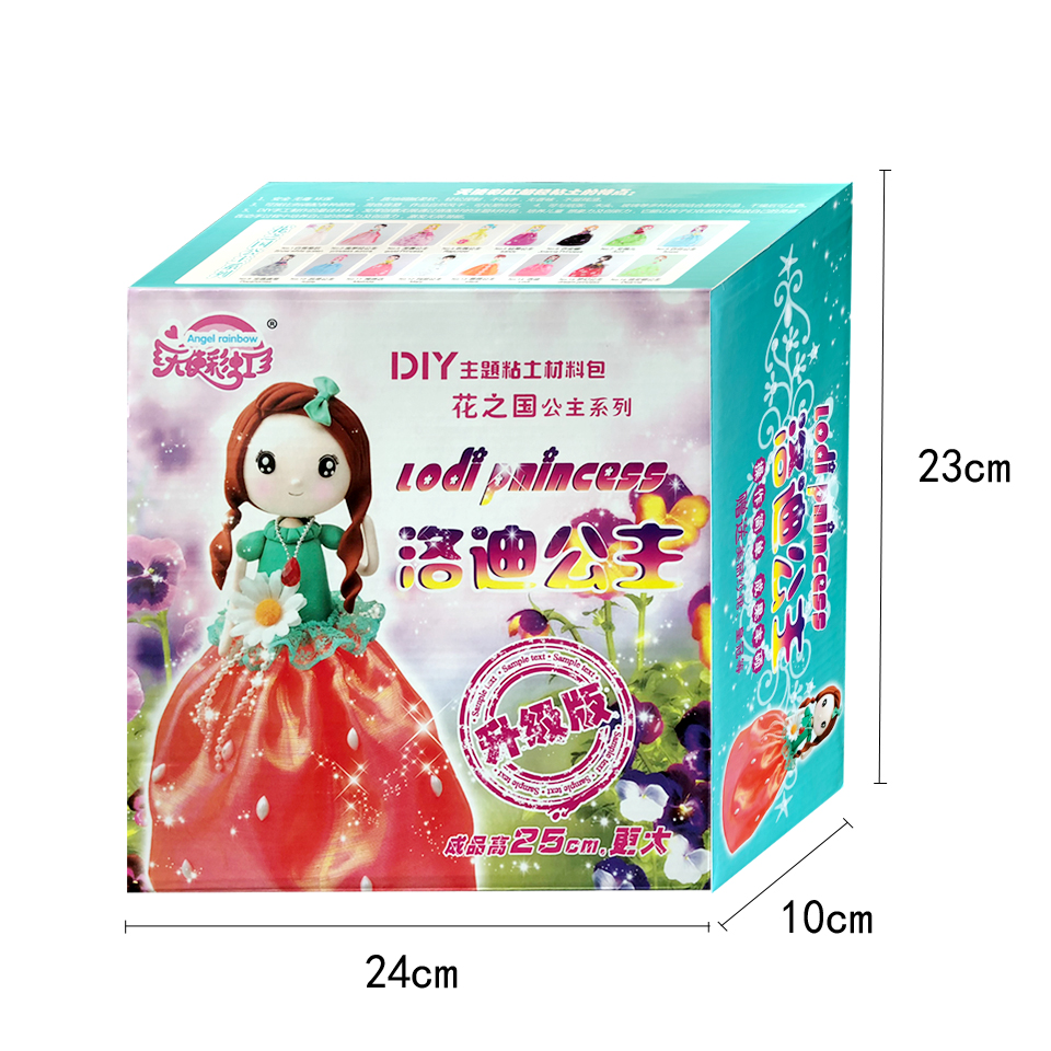 Slime Doll Set Western Princess Doll With Dress And Clay DIY Colorful Slime kit Handmade Education Craft Slime Supplies DOLLRYGA