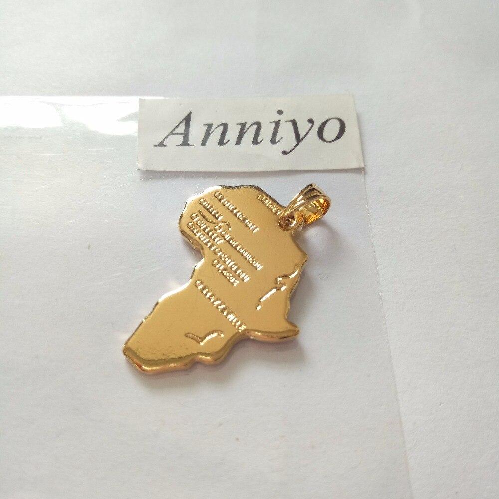 Image 3 - Anniyo Wholesale Bulk Africa Map Charms Pendant Gold Color  Jewelry Women Men Ethiopian Nigeria Kenya South Africa Congo  #132006bulk pendantscharm pendantgold charm pendant