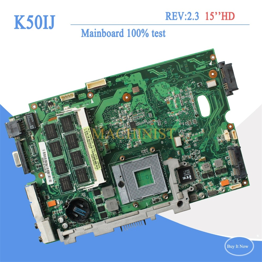 K50IJ REV2.1 mainboard for ASUS X5DIJ K60IJ X8AIJ K40IJ K50IJ laptop Motherboard REV2.1 60-NVJMB1100-B21 Mianboard fully tested