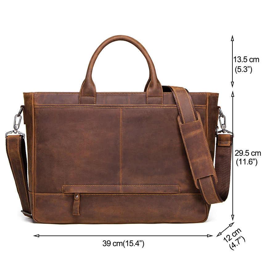 CONTACT'S Кожаная высококачественная повседневная вместительная  сумка 2019 года в винтажном стиле, может использоваться как дорожная сумка