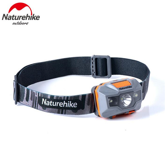 Naturehike Cycling Waterproof Headlamp USB Chargable Camping Headlight Outdoor Fishing LED Light in Safety Survival from Sports Entertainment