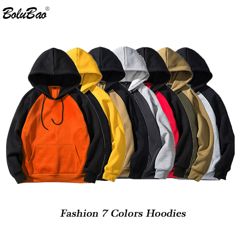 BOLUBAO Fashion Brand Hoodie Men 2019 Spring Autumn Male Pullover Streetwear Hoodie Sweatshirt Men Hoodies Splice Hooded EU Size