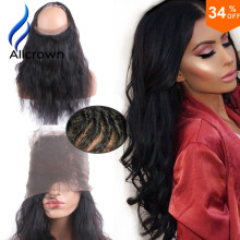 130 Density 360 Lace Frontal Body Wave font b Brazilian b font font b Virgin b
