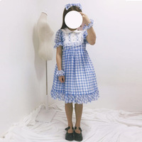 Free New Arrival Sale Shipping 2019 Flying Sweet Lolita Chequered Dresses Japanese Girl Bowknot Op Princess Spot Wholesale
