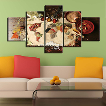 5 panel canvas art print HD decorative painting pictures wall grains crops poster prints home decor for kitchen Ingredients