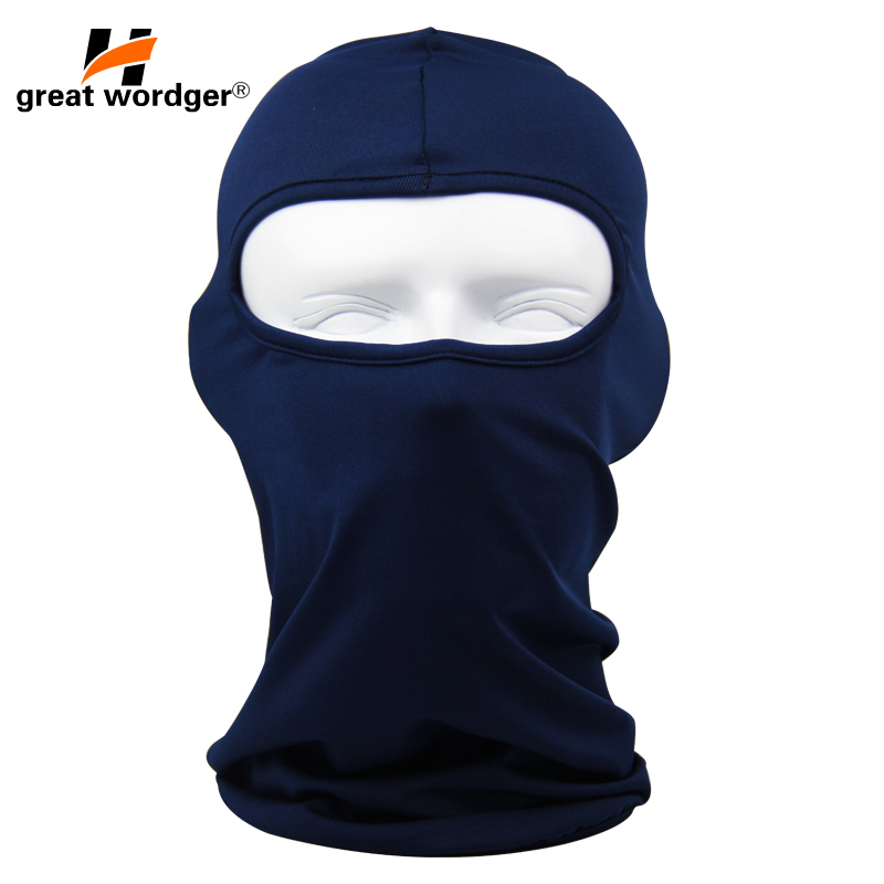 Motorcycle Face Mask Moto Balaclava Lycra Ski Mask Face Shield Cycling Ski Cap Summer Sun protection Balaclavas 14 Color in Cycling Face Mask from Sports Entertainment