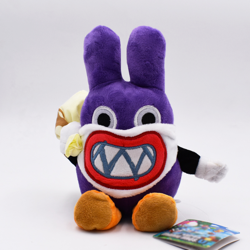 19cm Super Mario Anime Games Purple Stealth Rabbit Soft Stuffed Plush Toys Doll Free Shipping