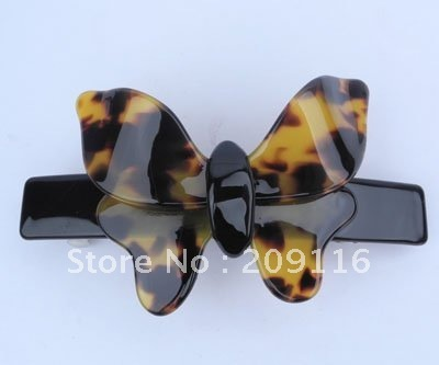 Unique Leopard Tortoise France Cellulose Acetate Butterfly Barrettes Hair Clips Hair Barrettes