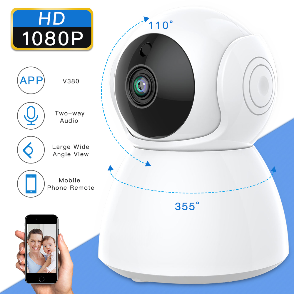 HD1080P Two Way Audio IP Camera Wireless Wifi Pet Baby Monitor IR Night Vision