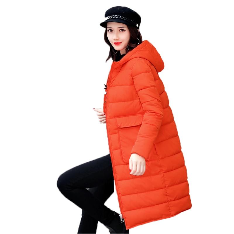 Fitaylor Black Long Parka Mujer Slim Hooded Casual Winter font b Jacket b font font b