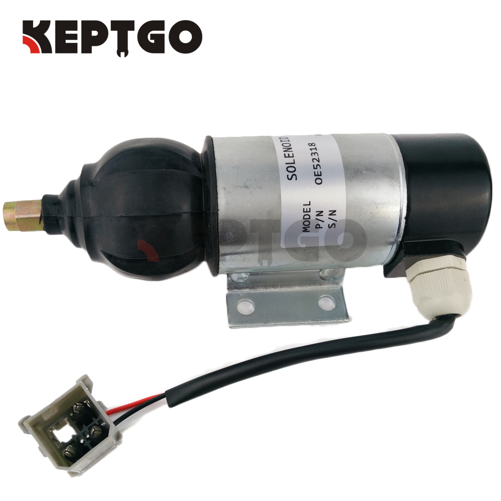 OE52318 24v Fuel Shutdown Solenoid Valve For Perkins 2006 3008 3012 Series solenoid 02 332169 for hydraulic solenoid directional valve 12v