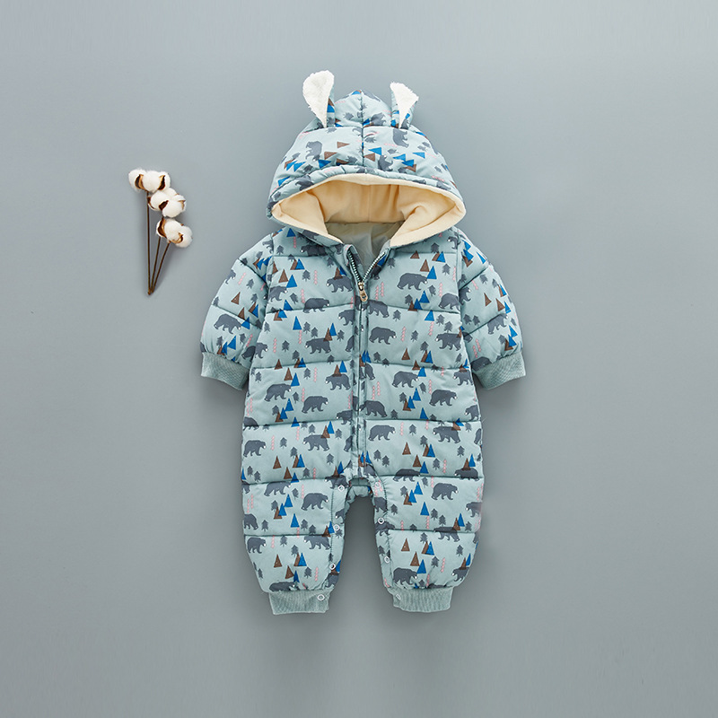 37c226f3e Super Warm Children Winter Jumpsuit Rompers Bear Baby Girl Winter ...