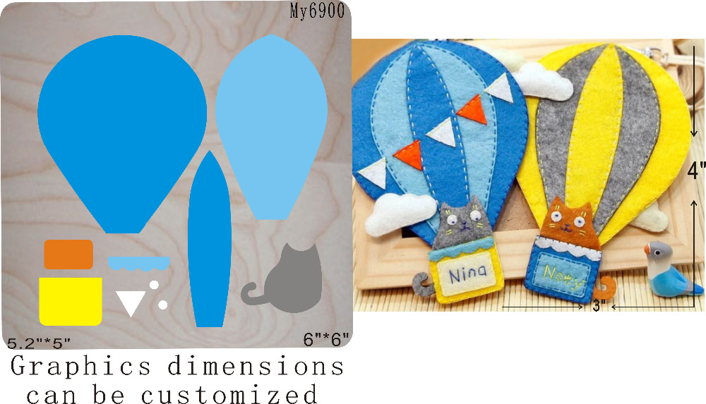 Cats and balloons die cutting  & Wooden dies  (// )Cats and balloons die cutting  & Wooden dies  (// )