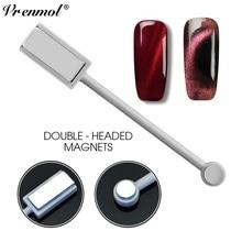 Vrenmol 3D магнит двуглавый Магнитная пластина ручка сильный магнит для всех УФ Гель-лак для ногтей с эффектом «кошачий глаз» лак для ногтей DIY Инструменты