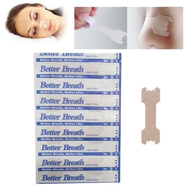 50 Pcs Right Breathe Better Nasal Strips Correctly To Get Rid Of Snoring Anti Snore Strips Easier And Breathe Better Health Care