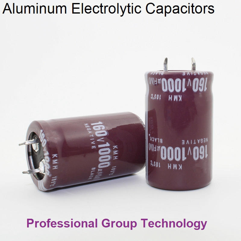 10pcs R50 Good quality 160v1000uf Radial DIP Aluminum Electrolytic Capacitors 160v 1000u ...
