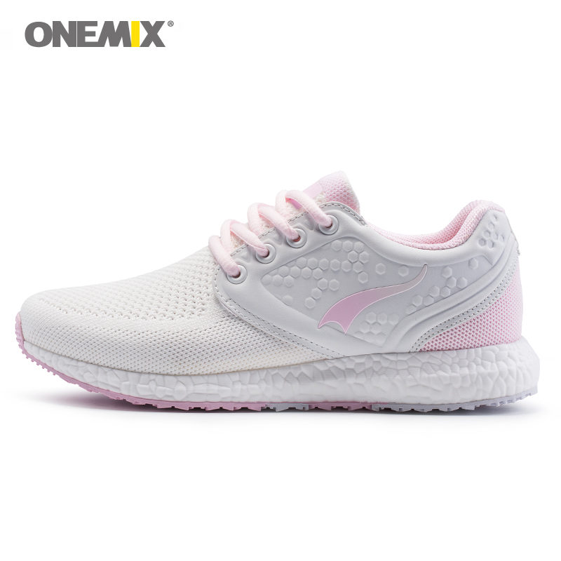 Onemix running shoes for women sneakers women breathable cool mesh space PU outdoor lighting for sports jogging walking sneakers цена