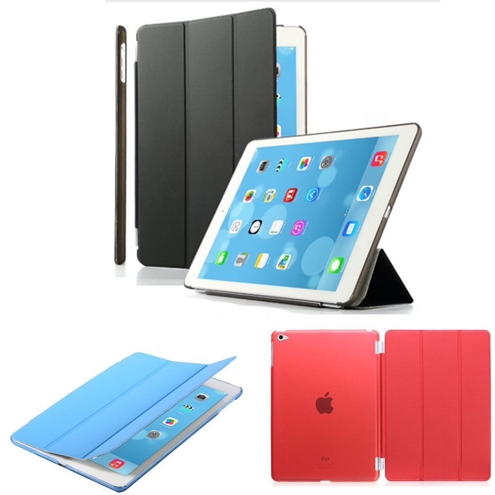 protective shell for apple ipad air 2 case slim fit smart case cover for ipad 6 with auto sleep. Black Bedroom Furniture Sets. Home Design Ideas