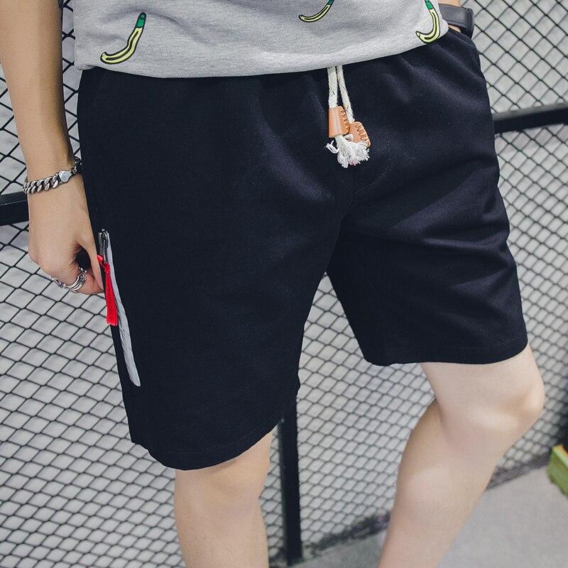 Hot Sale Casual Quality Shorts Men Elastic Waist Short Pants Male Fashion Beach Shorts Mens Pure Color Breathable Men Shorts K12
