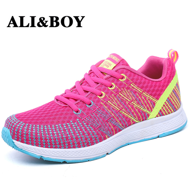 nouvelle arrivee d2ee6 20510 ALIBOY sport shoes for women running shoes basket femme 2017 super light  mesh breathable gym free run women shoes sneakers-in Running Shoes from ...