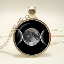 Triple Moon Goddess Pendant,  necklace, Triple Moon Goddess sign jewelry, Magic Sign,christmas gift.   triple moon