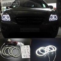 HochiTech Super Bright White Color Light SMD LED Angel Eyes For Kia Carens Rondo 2006 11