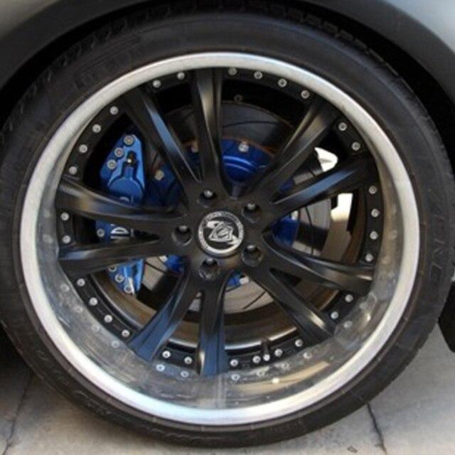 KUNBABY 4 шт. Передняя и задняя крышка для автомобильного стайлинга, алюминиевый тормозной суппорт, чехлы для украшения автомобиля, Стайлинг, по...