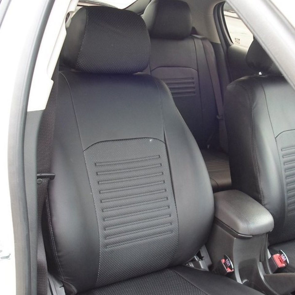 For Mitsubishi Outlander XL 2007-2012 special seat covers full set Model Turin Eco-leather for skoda octavia a7 2013 2019 active ambition special seat covers without rear armrest full set turin eco leather