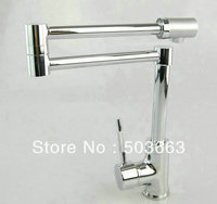 Brand New Concept Swivel Kitchen Faucet Polished Chrome Mixer Brass Sink Tap CM0886