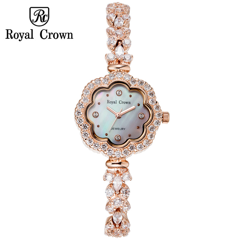 Shell Luxury Rhinestones Sunflower Women's Watch Royal Crown Hours Fine Fashion Dress Bracelet Girl Birthday Gift 3816 ltc1731es8 8 4 173184 lt173184 sop 8
