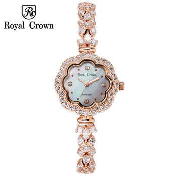 Shell Luxury Rhinestones Sunflower Women's Watch Royal Crown Hours Fine Fashion Dress Bracelet Girl Birthday Gift  3816 - DISCOUNT ITEM  30% OFF All Category