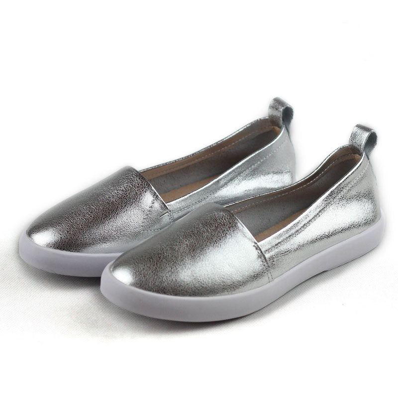 Shoes Woman Flats Genuine Leather Round toe Slip on Loafers Ladies Flat Shoes Skid proof Spring/Autumn Driving shoesShoes Woman Flats Genuine Leather Round toe Slip on Loafers Ladies Flat Shoes Skid proof Spring/Autumn Driving shoes