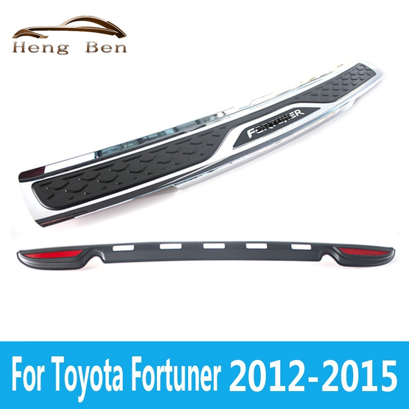 HB High Quality Plastic Rear bumper Protector Sill For Fortuner 2012 13 14 15
