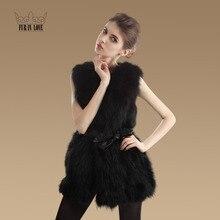 2016 New Fashion Women Genuine Raccoon Fur Vest Lady Long Raccoon Fur Coat Nature Raccoon Fur Jacket With Belt