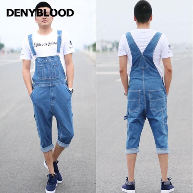 Denyblood Jeans 2017 Mens Short Denim Overalls Jeans Male