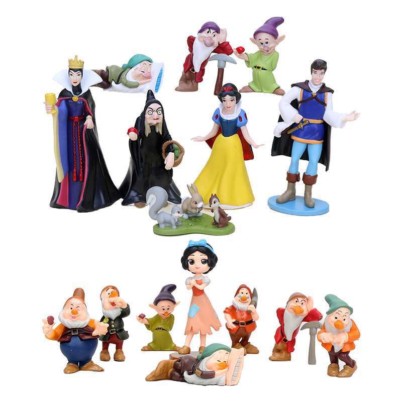 3-8cm PVC Princess Snow white Snow White and the Seven Dwarfs Queen Prince Figure Play кольцо snow queen divetro кольцо snow queen